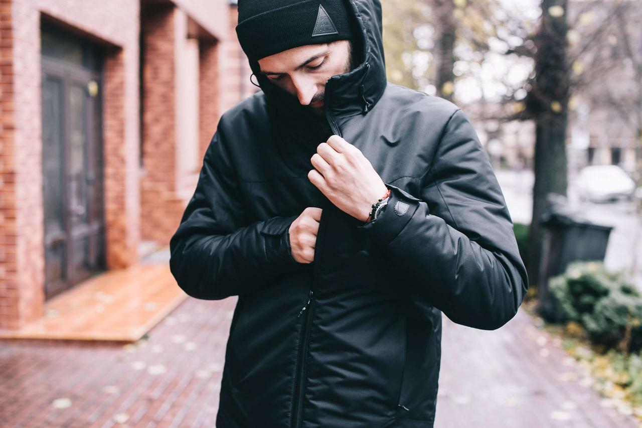 43af4b90e07 Мужская черная зимняя куртка Urban Planet А4 BLK
