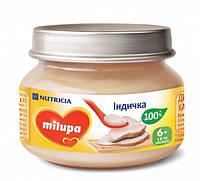 Milupa. Пюре Milupa с индейкой, 80г, 6мес+ (030192)