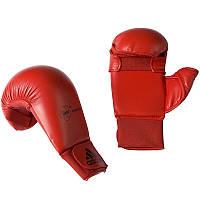 Перчатки с большим пальцем до карате Adidas красные