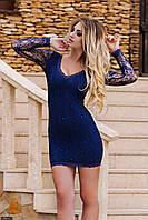 Платье 435247-1 синий Осень-Зима(мш)