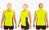 Форма волейбольная женская 6503W-Y (полиэстер, р-р S-3XL, желтый)