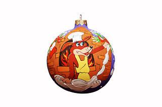 Стеклянные елочные шары к году Собаки!