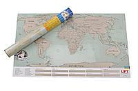 Скретч карта мира Оптом Scratch World Map на анг. языке