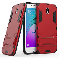 Чехол Iron для Samsung J3 2017 / J330F бронированный Бампер Броня Red