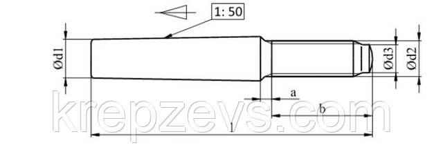 Схема штифта ISO 8737