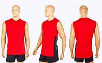 Форма волейбольная мужская 6503M-R (полиэстер, р-р M-4XL, красный)
