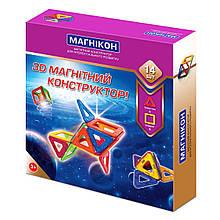 Магнитный конструктор МАГНИКОН 3D 14 деталей