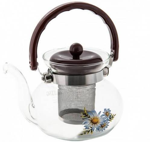 Чайник стекло огнеупор Ø=13.5см V= 900 мл, фото 2