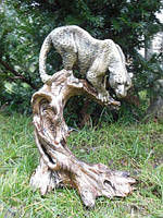 Леопард (бронза цветная) Скульптура, фигурка, статуэтка