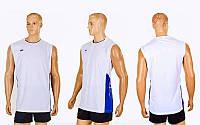 Форма волейбольная мужская 6503M-W (полиэстер, р-р M-4XL, белый)