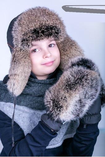 Купить меховую шапку ушанку для мальчика Bombino 48–53р. в расцветках