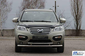 Защита на передний бампер Lifan X60