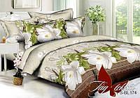 Комплект постельного белья ТМ TAG Полисатин полуторный PS-BL174