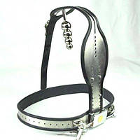 Male Fully Adjustable Model-T Stainless Steel Premium Chastity Belt with Anal Plug