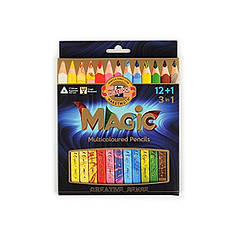 Карандаши многоцветные Koh-i-Noor Magic 3408/12+1 13 цветов (картон. кор.)