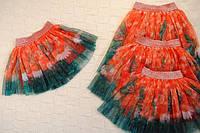 Яркая фатиновая юбка Ромашки