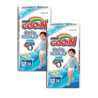 Goo.N. Трусики XL(12-20 кг) для мальчиков, mega pack, 2х38 шт. (7537142)