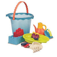 Battat. Набор для игры с песком и водой - МЕГА-ВЕДЕРЦЕ МОРЕ (9 предметов)