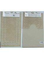 Набор ковриков для ванной 60х100, 60х50 хлопок Arya Assos слоновая кость