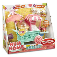 Num Noms. Игровой набор NUM NOMS S2 - АРТ-ТЕЛЕЖКА (тележка, 2 нома, 3 мини-нома, аксессуары) (542353)