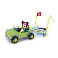 """Minnie & Mickey Mouse Clubhouse. Игровой набор серии """"Кемпинг"""" - ВНЕДОРОЖНИК МИККИ (машинка, лодка, фигурка Микки) (181885)"""