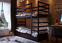 Двухъярусная кровать трансформер Эля из натурального дерева