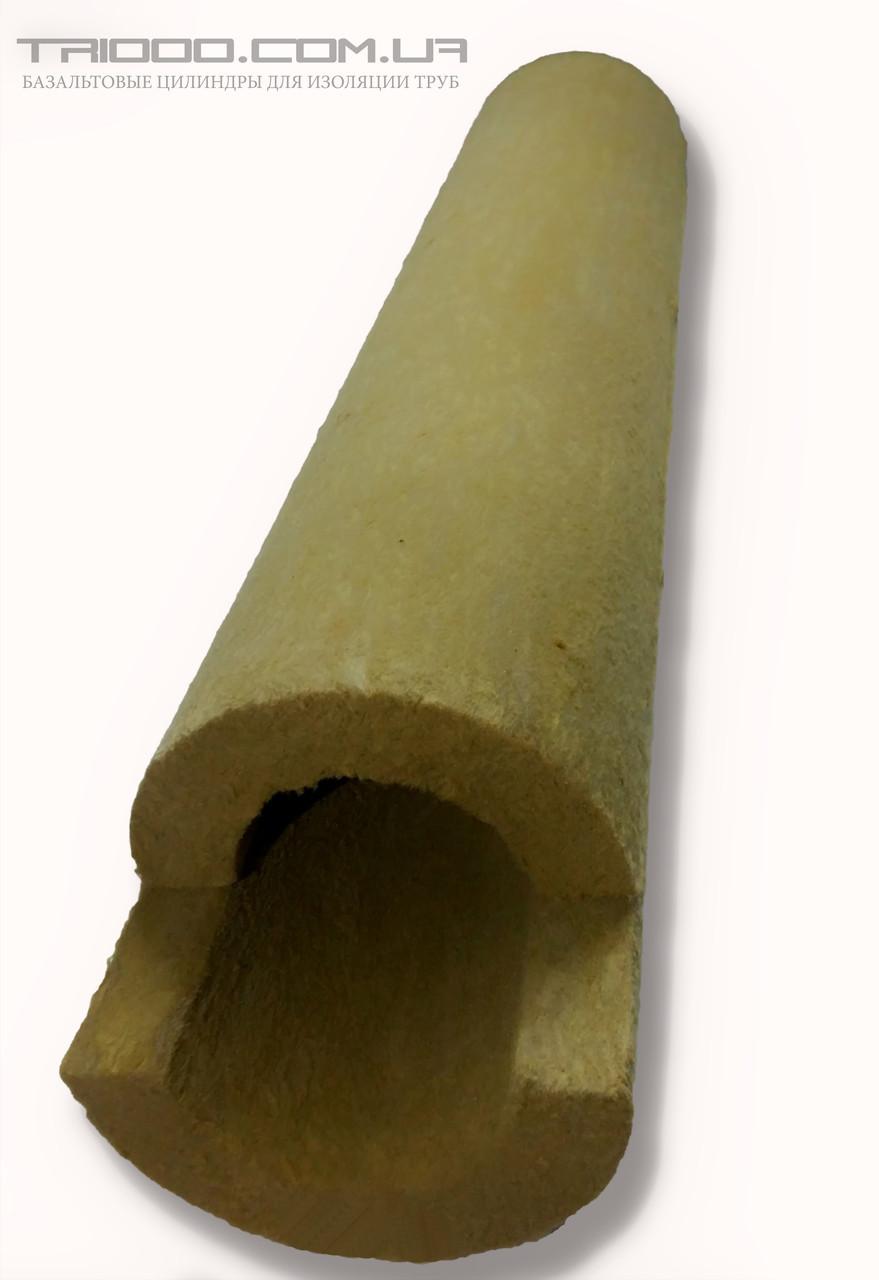 Теплоізоляція для труб Ø 114/60 з базальту, фольгована