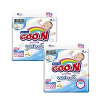 Goo.N. Подгузники GOO.N для новорожденных до 5 кг (размер SS, на липучках, унисекс) mega pack, 2x90шт (8530732)