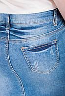 Юбка выше колена джинсовая 457K003 (Светло-синий)