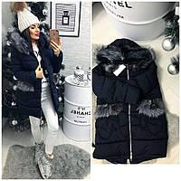 Куртка-пальто №01550 (плотная плащевка-наполнитель холлофайбер)