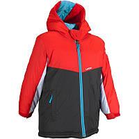 Куртка лыжная Firstheat Wed'ze детская, черно-красная