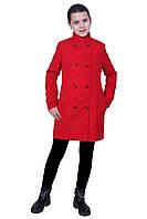 """Пальто для девочки   кашемир  м-1073 рост 140 146 152 158 и 164 красное тм """"Попелюшка"""", фото 1"""