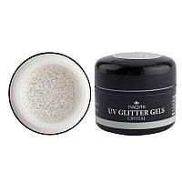 Глиттерный гель Naomi UV Glitter gel CRYSTAL, 5 г