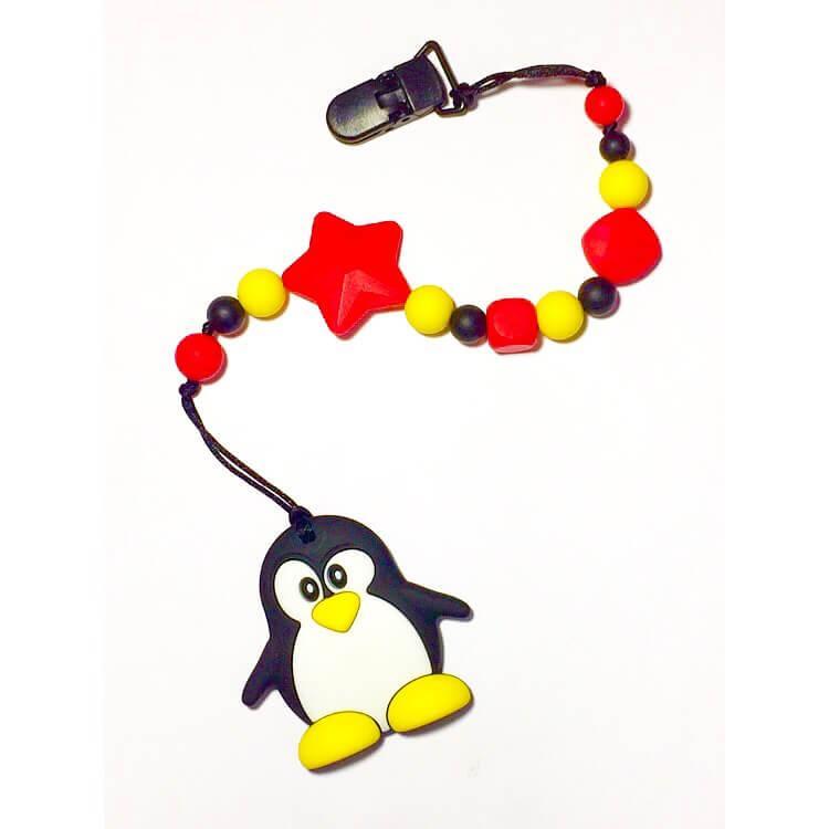 Грызунок пингвин, прорезыватель для зубов из пищевого силикона