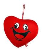"""Антистресова іграшка м`яконабивна """"SOFT TOYS 25 """"Серце"""" сміється"""