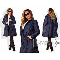 Пальто-тренчкот из стёганой плащёвки на подкладе со съёмным воротником из искусственного меха X4958