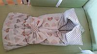 """Luxbaby. Конверт-одеяло на выписку """"Полина"""" 90/85 атлас мишки, (482078)"""