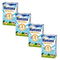 Humana НА 1 с LC PUFA, 4х500 гр. (4 шт.) (3280-4)
