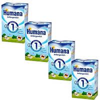 Humana (Хумана) 1 с пребиотиками (ГОС), 4шт.х600 г (782502/4)