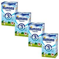 Молочная смесь Humana 3, 4шт.х600 г для детей с 10 мес. (4шт.) (100108)