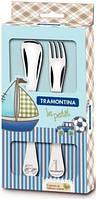 Tramontina. Детский набор столовых приборов  BABY Le Petit blue, 2 пр. (66973/010)