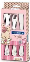 Tramontina. Детский набор столовых приборов  BABY LE PETIT PINK, 3 пр. (66973/005)