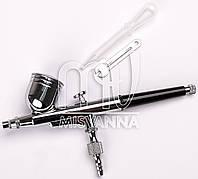 Ручка для аэрографа для визажа и дизайна ногтей, сопло d=0,3 мм. черный