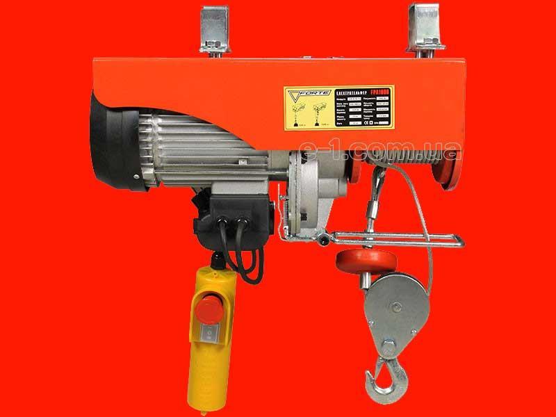 Электрический тельфер на 1 тонну Forte FPA1000