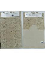 Набор ковриков для ванной 60х100, 60х50 хлопок Arya Bahar Слоновая кость