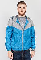 Ветровка мужская двухцветная. (Серо-голубой). Арт-629K001-2.5