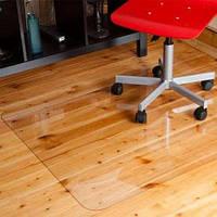 Защитные напольные коврики под кресло 0.8мм. с прямыми краями 1,25*2,0мм. прозрачный
