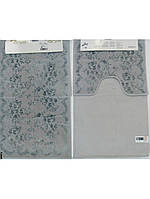 Набор ковриков для ванной 60х100, 60х50 хлопок Arya Bahar Серый