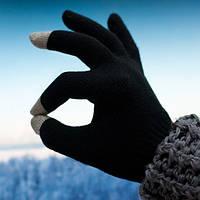 Перчатки SmartTouch iGlove Оптом Black 5 Tip АйГлов черные / серые
