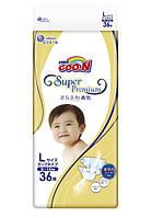 Goo.N.  Подгузники Goo.N Super Premium L (9-14 кг), 36 шт.  (853118)